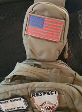 USA AMERICAN FLAG GREEN & GOLD COMBAT SWAT TACTICAL MORALE   PATCH HOOK AND LOOP