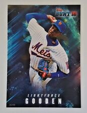 "2016 TOPPS BUNT DWIGHT GOODEN ""LIGHTFORCE"" 5X7 JUMBO ART CARD #/49 METS"