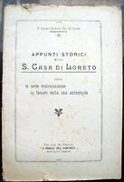 1919 STORIA CASA DI LORETO DI PADRE EGIDIO GIUSEPPE DA GUALDO DI PORTOMAGGIORE