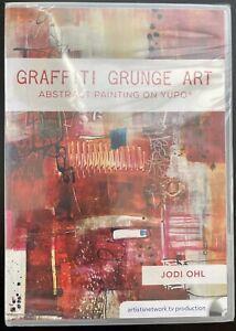 Graffiti Grunge Art ABSTRACT Painting on YUPO Mixed-Media Art Jodi Ohl DVD NEW
