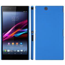 Coque rigide bleue pour Sony Xperia Z Ultra aspect mat toucher rubber gomme