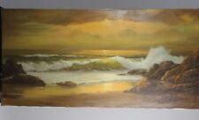 Original William Blackman Oil Painting Carmel Seascape Monterey Artist