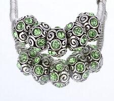 New 5Pcs Silver MURANO GLASS BEAD LAMPWORK Fit European Charm Bracelet A19