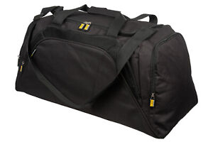 Mens Large Black Sports & Gym Duffle Holdall Bag SPORTS TRAVEL WORK By MIG