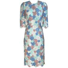 NWT Dolce & Gabbana Floral Lace Macrame Multicolor Dress IT 38 2 XS