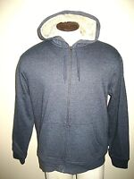 Levi's Mens Sherpa lined Full Zipper hoodie Fleece Jacket Navy Blue NWT Classic