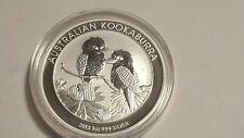 2013  AUSTRALIA KOOKABURRA 1OZ  .999 SILVER ART ROUND CAPSULED PROOF GEM COIN
