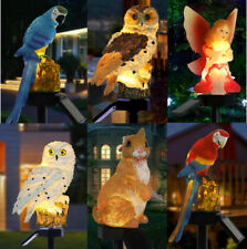 Solar Powered Garden LED Lights Owl Animal Pixie Lawn Ornament Waterproof Lamp