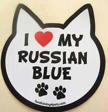 I Love My Russian Blue Cat Refrigerator Car Locker Fun MAGNET Made USA cats