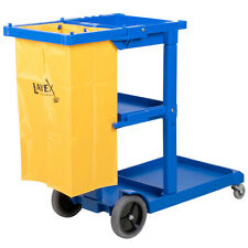 Lavex 3 Shelf Janitor Cart with Vinyl Bag - Fast Shipping !