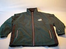 Vintage NFL New York Jets Reversible Fleece Windbreaker Jacket Men's Size L