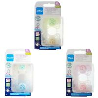 MAM Perfect Night Soother Twin Pack - 0m+ CHOICE OF DESIGN BOY/GIRL (A188)