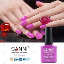 165 CANNI FUCHSIA UV LED SOAK OFF GEL COLORS NAIL ART 7.3ml UK SELLER