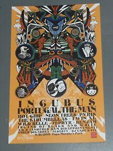 Incubus concert poster - 2019 - Sacramento CA 11x17 Unused CITY OF TREES