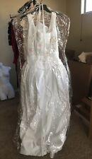 davids bridal wedding dress size 10 New, Pink & Green Embroidery On Bodice.