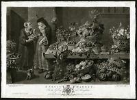 Rare Antique Master Print-FRUIT MARKET-MONKEY-SQUIRREL-Earlom-Snyders-1782