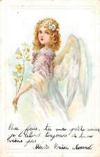 Fantasy Pixie Angel Girl, Flowers, narcissus daffodil rose