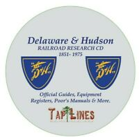 DELAWARE & HUDSON D&H RR OFFICIAL GUIDES,  EQUIPMENT REGISTERS & RESEARCH ON DVD