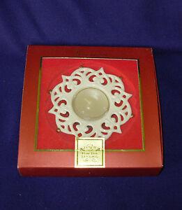 new Lenox Snow Lights Sparkle Votive snowflake tea light Holidays candle  4in