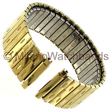 18-22mm Speidel Stainless Square Link Gold Tone Metal Watch Band Regular 1377/12