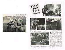 1938 ORIGINAL FLASH GORDON'S TRIP TO MARS MOVIE CLIPPING BUSTER CRABBE SCI-FI