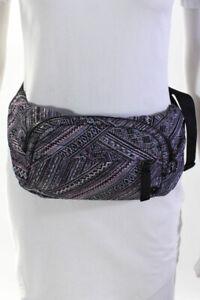 Lululemon Womens Geometric Stripe Buckle Belt Bag Purple