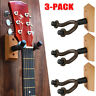 3X For Guitar Bass Electric Acoustic Display Stand Wood Wall Hanger Bracket Hook