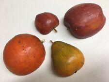 Artificial Hard Styrofoam 2 Apples Orange Pear Decorative Fruit