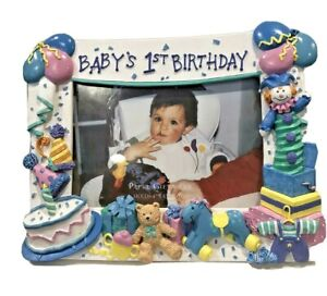 Papal Giftware Photo Frame Babys 1st Birthday Picture Gift Shower Keepsake