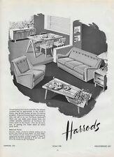 "1955 Vintage Print ad HARRODS FURNITURE 30cm x 23.5cm (12"" x 9.5"")"