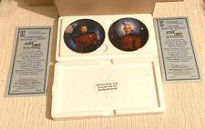 Captain Picard & Will Riker Mini Plate Set Hamilton Collection New Star Trek TNG