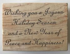"""Great Impressions Rubber Stamp Wishing You a Joyous Holiday Season 3.25"""" x 2.25"""""""