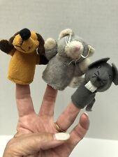 Dog, Cat & Mouse Finger Puppets
