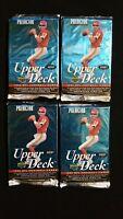 1995 Upper Deck Football Hobby Pack 4 Pack Lot