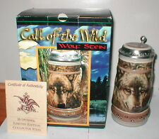 1996 BUDWEISER THE WOLF STEIN CALL OF THE WILD SERIES LE GL9