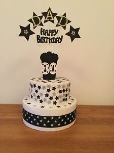 Cake Decoration Beer Glass Topper Personalised Birthday Any Age and Name