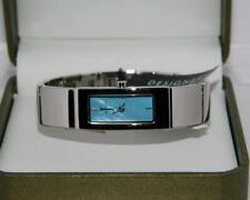 Jasper Conran Women's Silver colour PVD plated Blue dial designer Bracelet watch