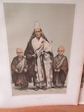 Vintage Print,PRIEST FULL DRESS,Perry Expedition Japan,1856