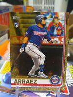 2019 Topps Update Luis Arraez GOLD PARALLEL RC SP #/2019 ROOKIE CARD TWINS