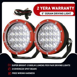 5inch OSRAM LED Driving Work Lights Spotlights Spot Beam Offroad Truck HID Bar