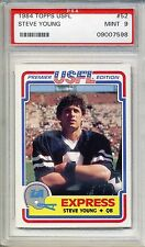 1984 Topps USFL Football Steve Young Rookie Card PSA MINT 9