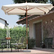Ombrellone 3x3 legno quadrato da giardino telo superiore poliestere per esterno