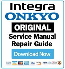 Onkyo Integra Audio Video Receiver Amplifier Service Manual and Repair Guide