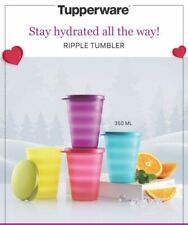 Tupperware - Ripple Tumblers - set of 4-multicolors - with matching lid -