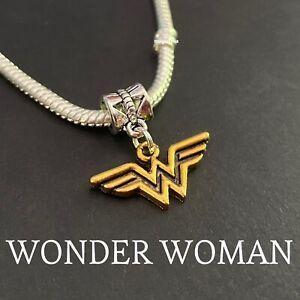 Wonder Woman Silver European Bracelet Charms Justice League DC Comics Gold
