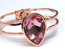 ROSE GOLD swarovski elements BRACELET  light rose fancy stone 30X20mm stone