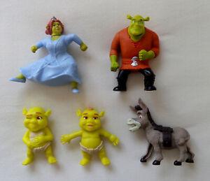 Mixed Lot of 5 Shrek Figures - McDonalds Happy Meal Toys (2007/2010)