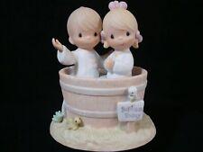 New ListingPrecious Moments-Boy & Girl In Baptism Bucket-Hourglass Mark