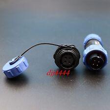 1Set Waterproof SP13 4Pin Aviation Cable Circular Connector IP68 Panel Mount