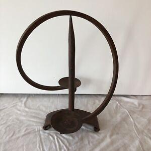 Vintage wrought iron sculpture balance candle holder